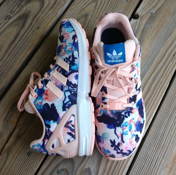 hot products super specials exclusive shoes 🆕Adidas ZX Flux Floral Coral Haze Running Sneaker